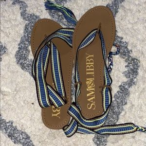 Sam and Libby lace up sandals